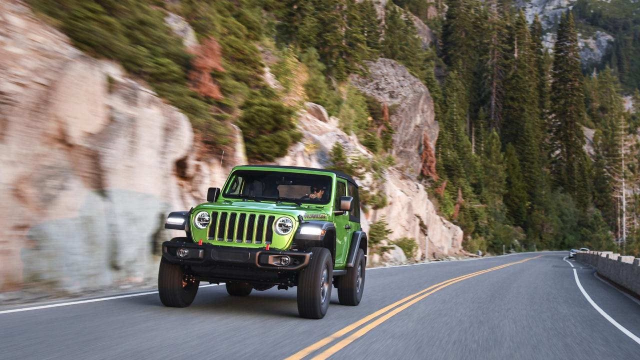 Big improver: The new Jeep Wrangler is far better to drive on the bitumen than the previous iteration.