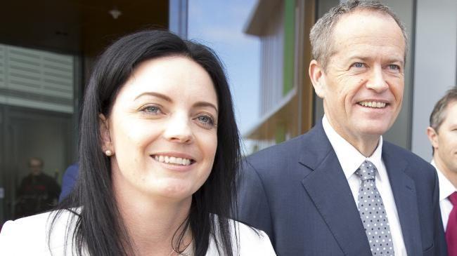 Labor MP Emma Husar and Bill Shorten. Picture: News Corp Australia