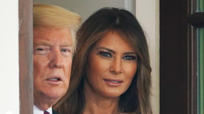 Melania Trump was reportedly furious after a tape was made public which had her husband, Donald, speaking in vulgar terms about women. Picture: AFP