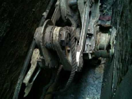 Aviation experts determined the plane part was a Boeing-made piece of landing gear from one of the jets flown into the World Trade Center. Picture: New York Police Department