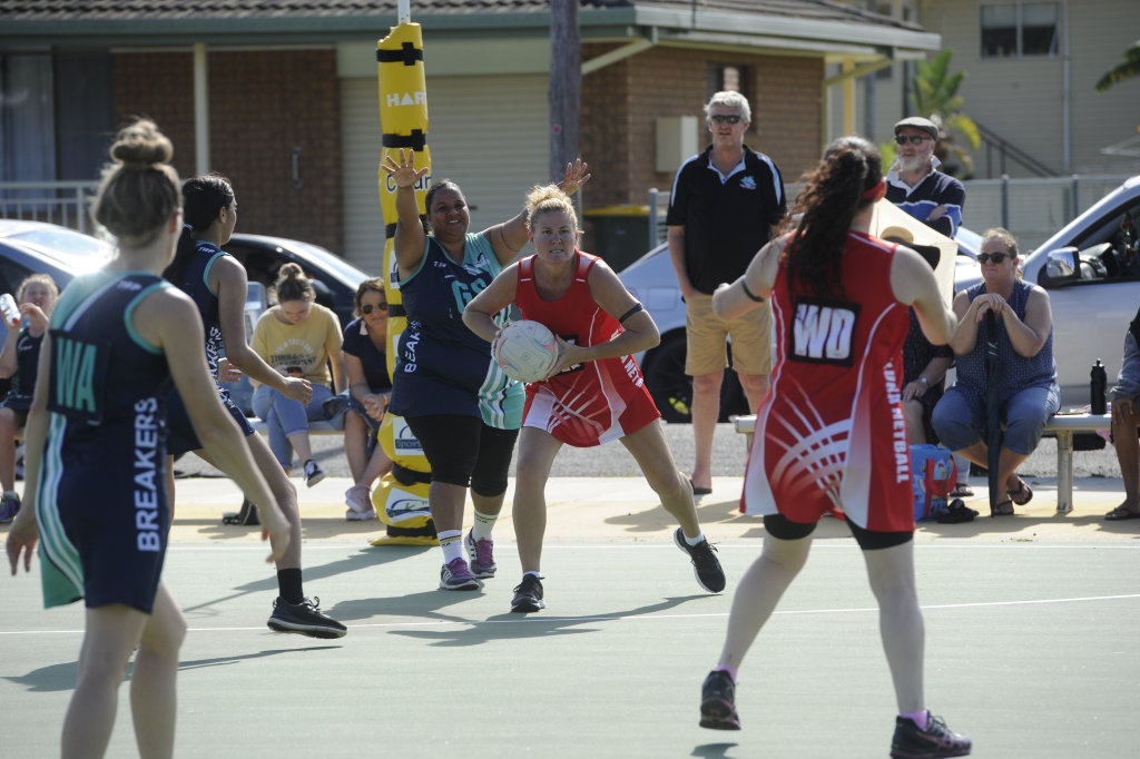 Image for sale: Lower Clarence Netball Association Division 1A grand final Iluka Warriors versus Breakers Washouts