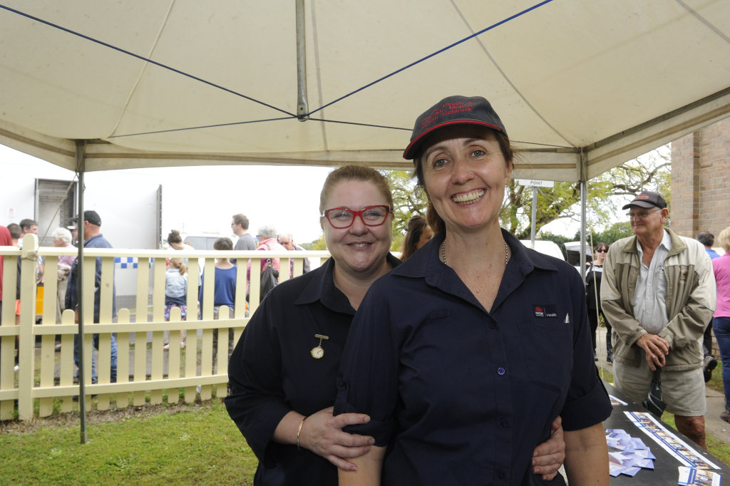 Image for sale: Amanda Cochrane and Kalie Allison from Justice Health at the 125th anniversary of the Grafton Jail.