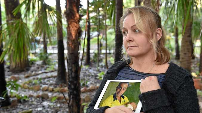 NOT FORGOTTEN: Sandra Moran holds an image  of her son Jaie who committed suicide.