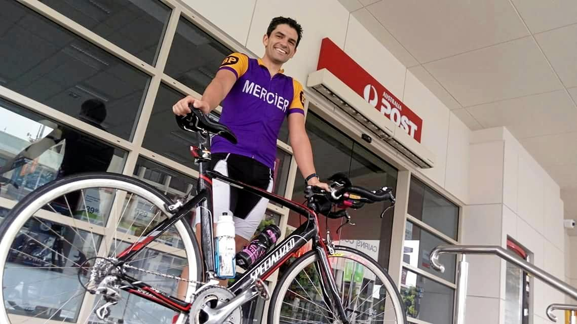 TIME TRAVELLER: Lachlan Davis after his Innisfail- to-Cairns ride.