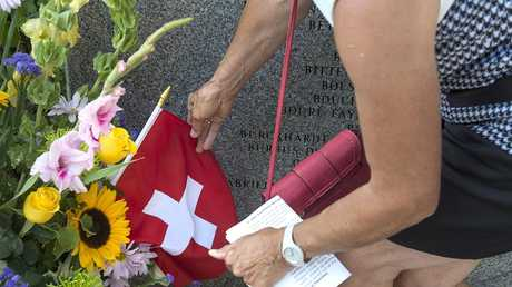 A service at the Swissair Flight 111 memorial at Bayswater was held on the recent 20th anniversary of the crash. Picture: Andrew Vaughan/The Canadian Press via AP)