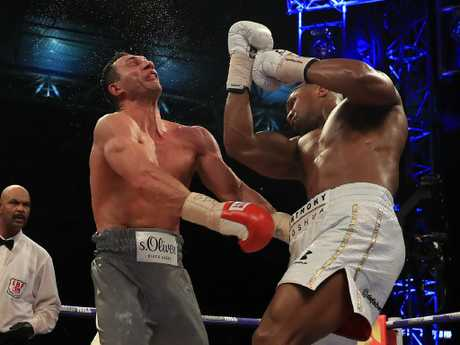 The car thief can expect an uppercut like this coming his way. (Photo by Richard Heathcote/Getty Images)