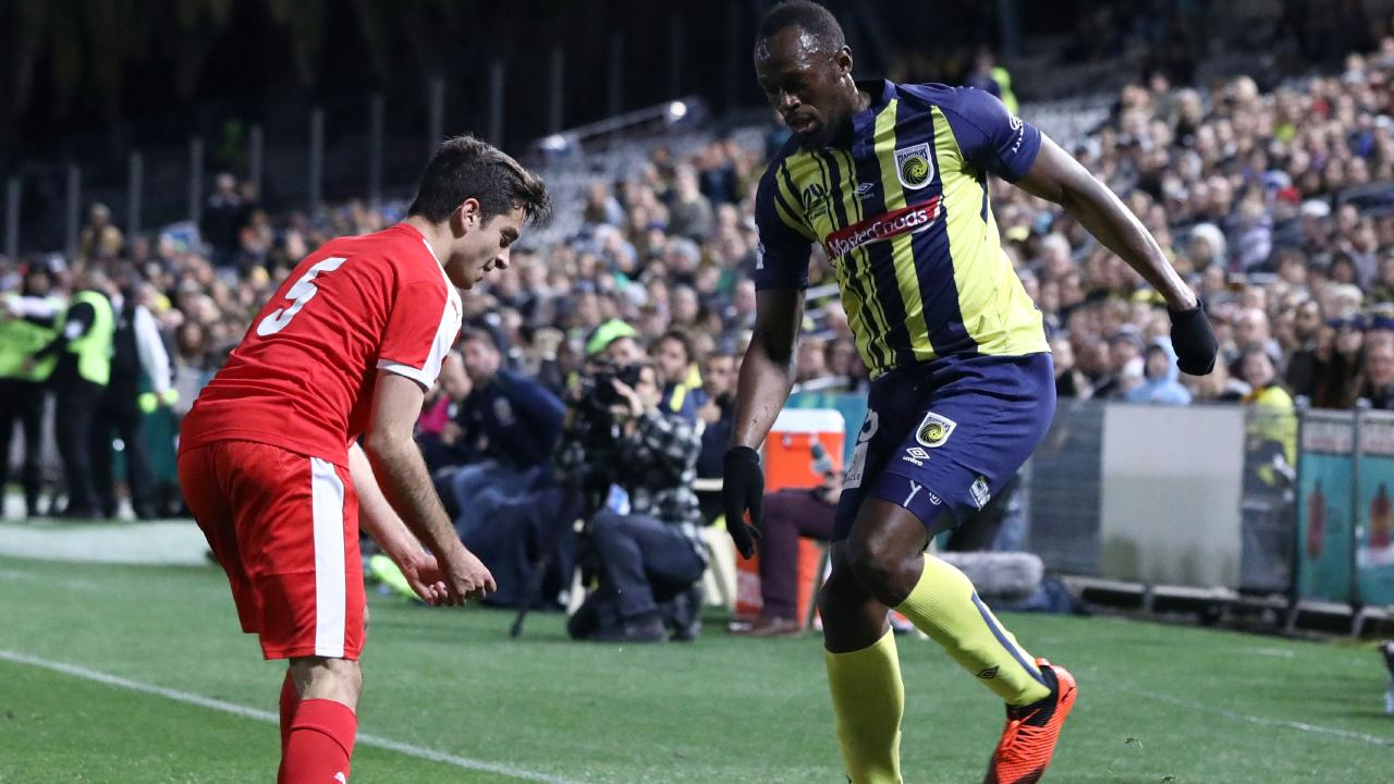 Usain Bolt's football conversion has hit a slight stumbling block. Picture: Andrew James