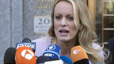 Donald trump's former lawyer wants Stormy Daniels to pay the hush money back. Picture: AP Photo/Mary Altaffer