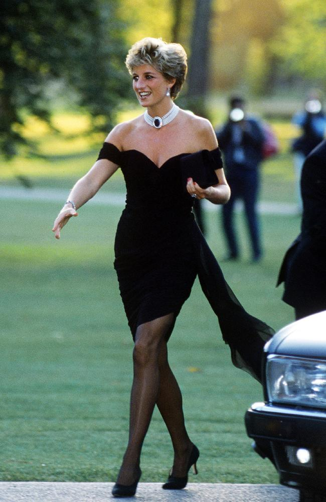Princess Diana's now iconic 'revenge dress'. Picture: Jayne Fincher