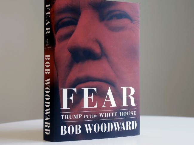 Bob Woodward's book has Donald Trump fuming. Picture: Mark Lennihan/AP