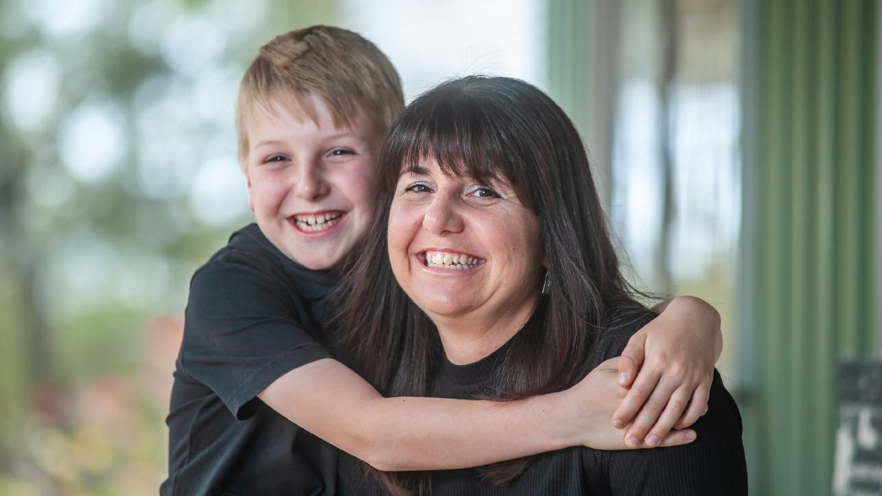Pride of Australia nominee Seajay Turner, 9, helped to save his mum Jacqui's life   after she collapsed at home from a brain aneurysm. Picture: David Martinelli