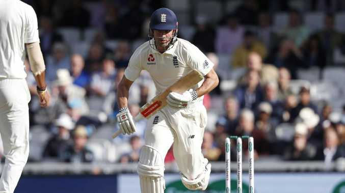 England's Alastair Cook takes a run during play on the first day of the fifth Test cricket match between England and India. Picture: Adrian Dennis