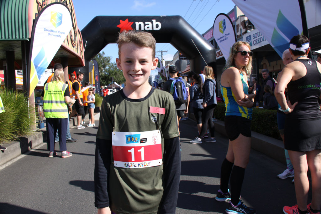 Image for sale: FUN RUN IN THE SUN: Everyone who competed, participated or cheered on the entrants in the 2018 Darrel Chapman Fun Run in Lismore on Sunday September 9, was a winner, including Sydney-jack who was second in the boy's event.