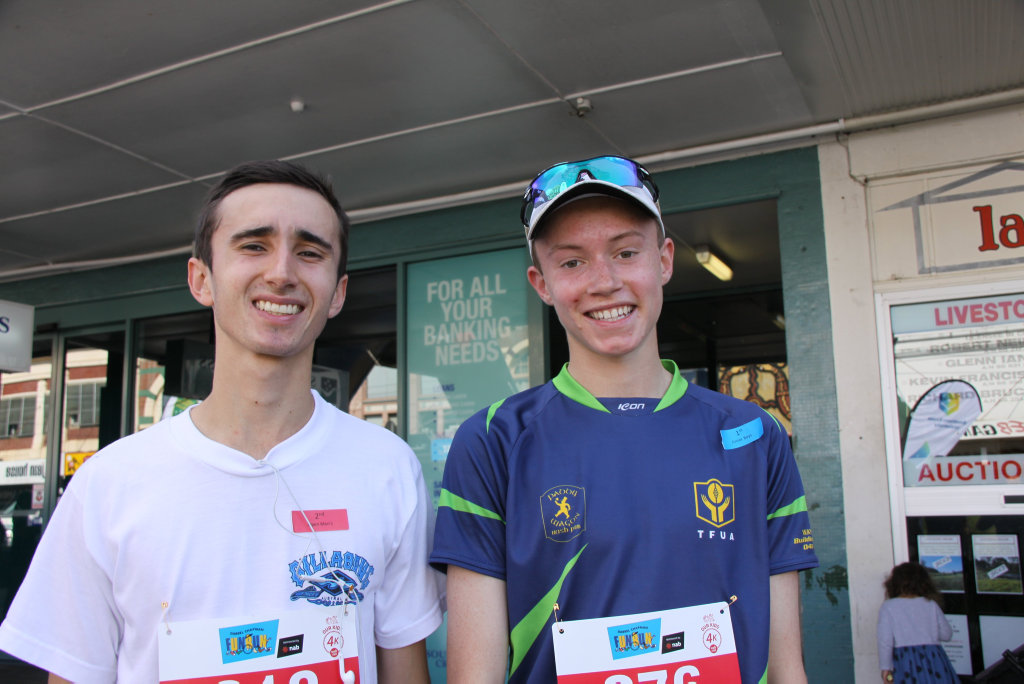 Image for sale: FUN RUN IN THE SUN: Everyone who competed, participated or cheered on the entrants in the 2018 Darrel Chapman Fun Run in Lismore on Sunday September 9, was a winner including Woodlawn students Ely McDermot, 18, and Henry Harris, 16.