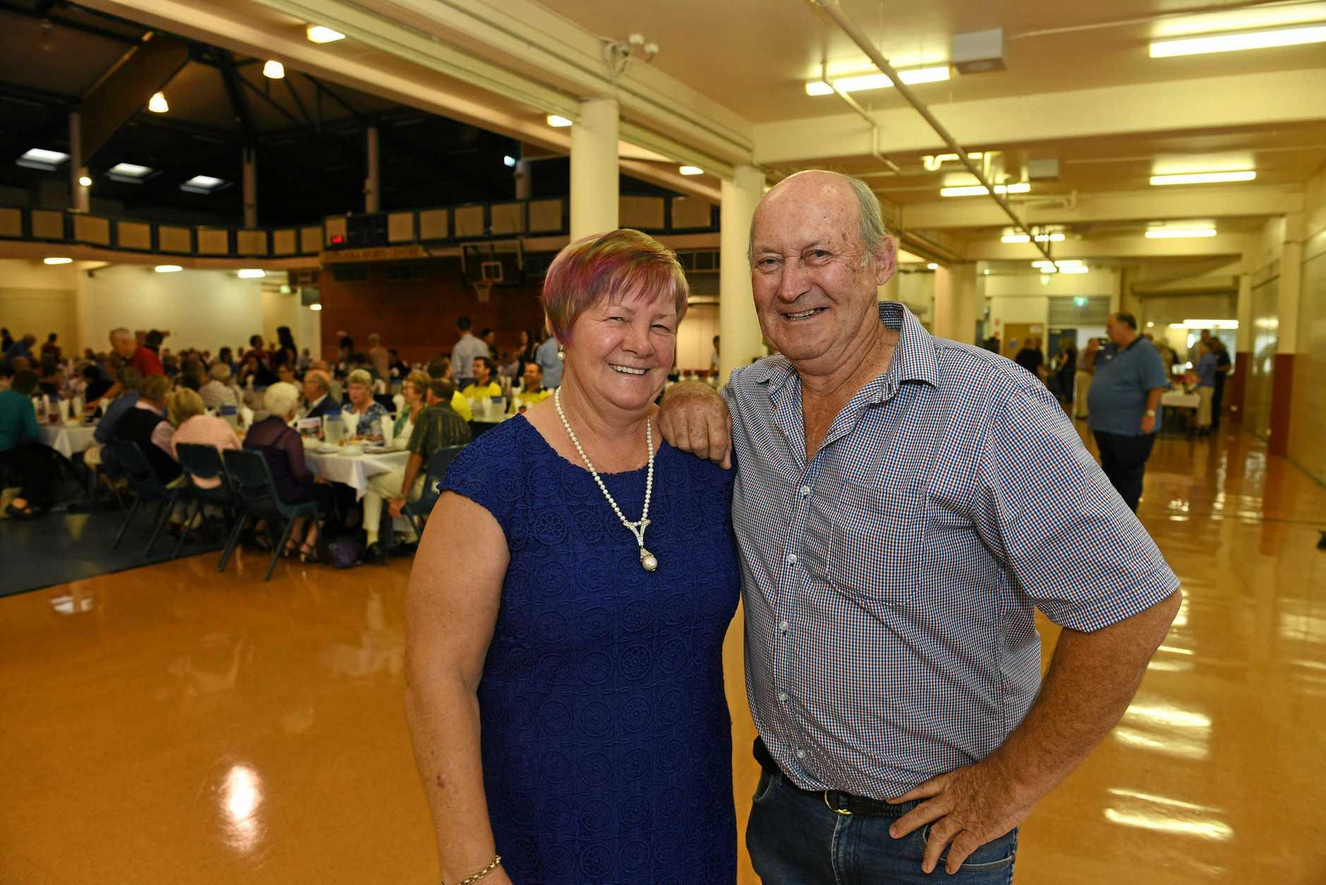 Gympie Mayor Prayer breakfast Marlene Owen and Tony Stewart.