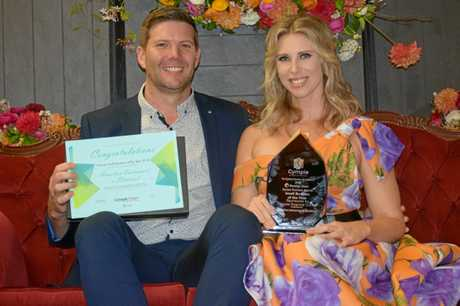 WINNERS: Nick and Ashleigh Hamilton from Hamilton Instruments Electrical took out the Small Business Award.