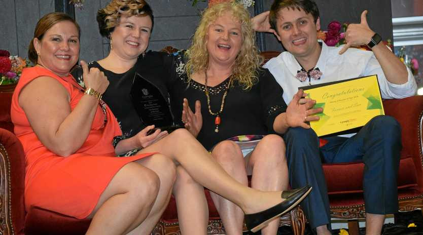 BUSINESS OF THE YEAR: Caroline Vielle with Business of the Year winner Sharla Watson, Trena Waugh and Layton Waugh from Farmer and Sun.