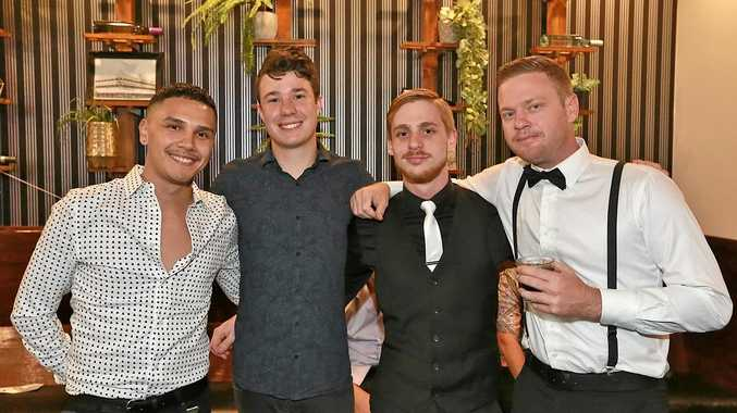 L-R Marcus Anthony, Dean Evans, Tyler Cooke and Pat Swadling at The Heritage Hotel.