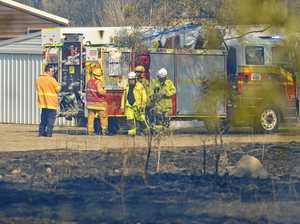 Crews battling bush fire burning near raceway
