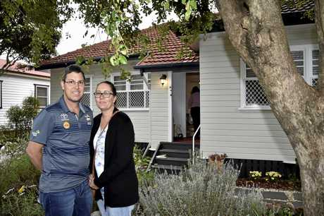 Aimee and Kevin Collins looking through an open house in Toowoomba.