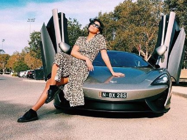 Does a fancy ride help women rate better in the dating scene? Picture: Instagram