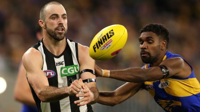 Steele Sidebottom was on fire early against the Eagles. Picture: Getty Images