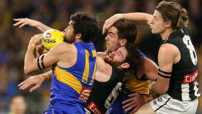 Josh Kennedy stood up late for the Eagles. Picture: Getty Images