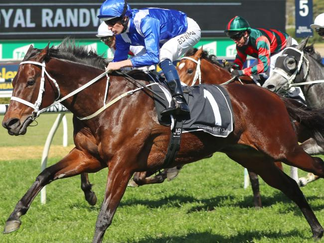 All systems are go: Hugh Bowman and Winx outguns stablemates in a stimulated race at Randwick on September 1.