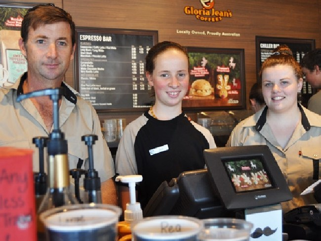 The family's fledgling Gloria Jean's franchise in the town's shopping mall was popular with locals, employing nine staff and turning a profit, Mr Frecklington said.