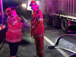 TRUCK FIRE: Late-night blaze on Pacific Highway