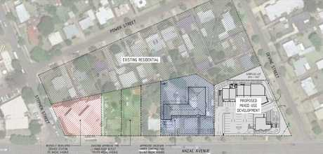 TRANSFORMATION: A new fast food precinct with drive-through facilities has been proposed for Anzac Ave in Harristown.