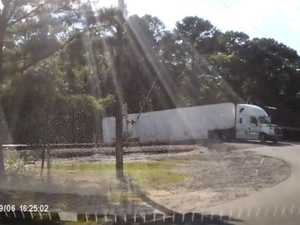 WATCH: Train smashes into side of truck