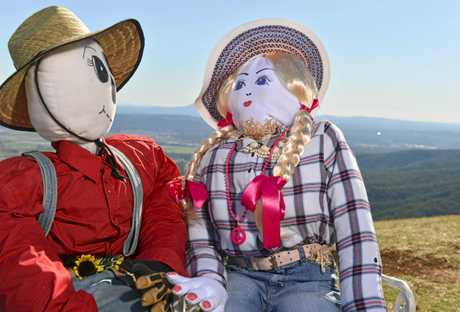 Hayden the scarecrow married his wife Hayley at last year's festival.