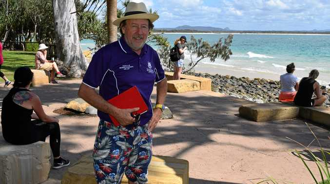 GREEN VALUE: Asso Prof Richard Brown of UQ is reseraching the worth of Noosa's best natural asset.