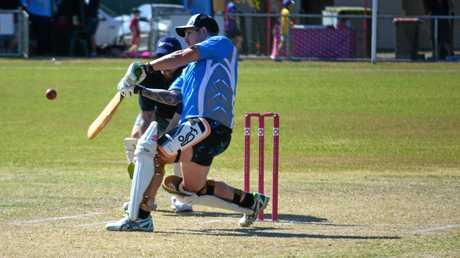 SANTOS Alex Totton hits another boundary