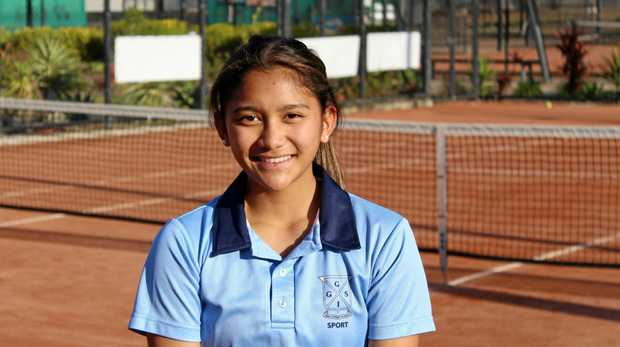 Tennis player Hannah Briones