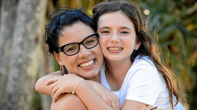 HELP FOR MUM: Alana Sinnamon and her daughter Lara, 12, are about to take on a fight of a life, as Alana has been diagnosed with breast cancer.