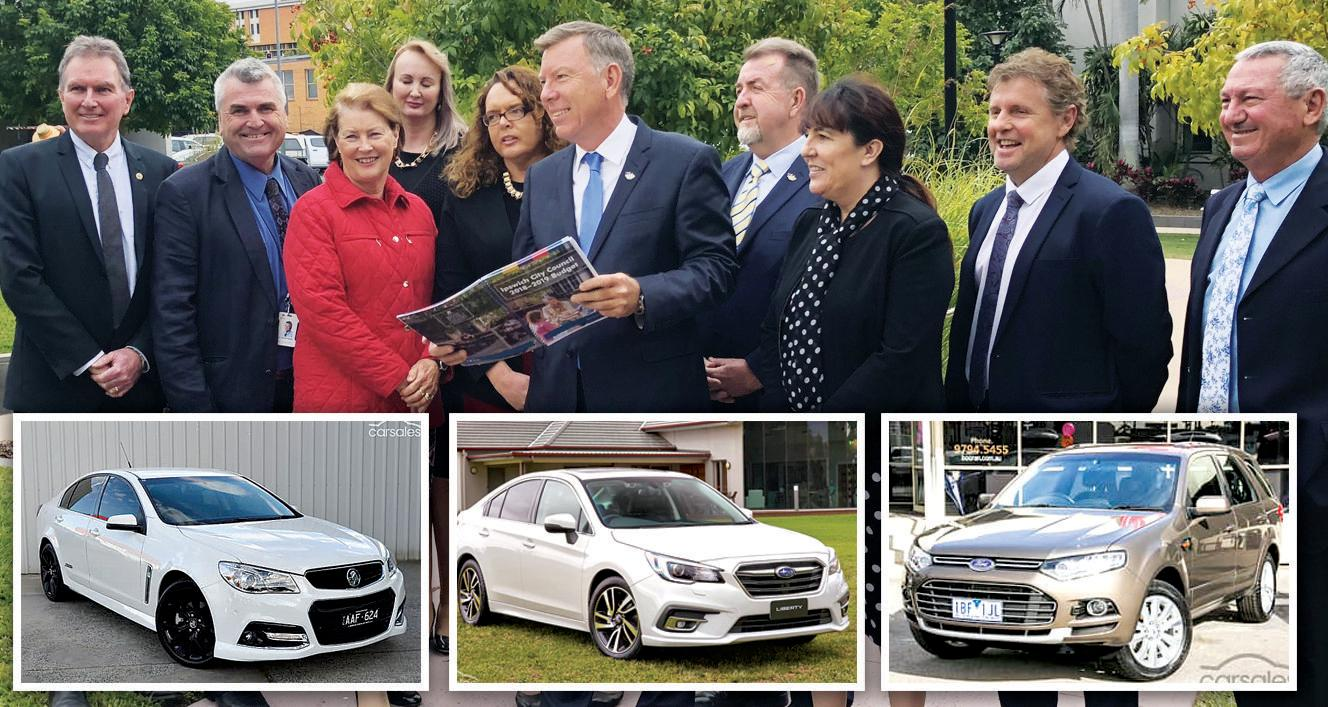 SALE: The vehicles owned by councillors, including a Holden, Subaru and Ford, will be auctioned in the coming weeks.