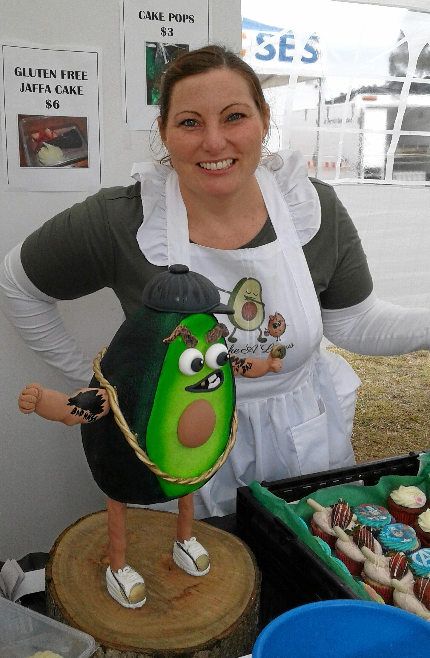 Kate Rider serves up for the Blackbutt Avocado Festival crowds at her delicious cake stall on September 8.