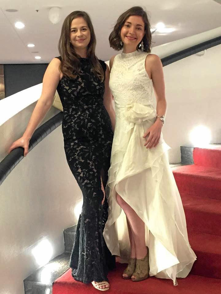 BLACK AND WHITE: Hiring a dress is becoming a popular solution for women who attend formal events.