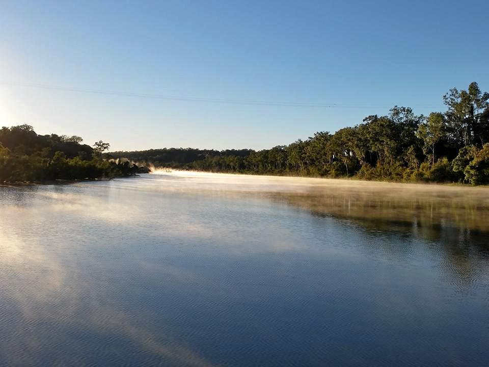 NATURAL BEAUTY: Steam rising off the Burnett River at Cedars Crossing, South Kolan.