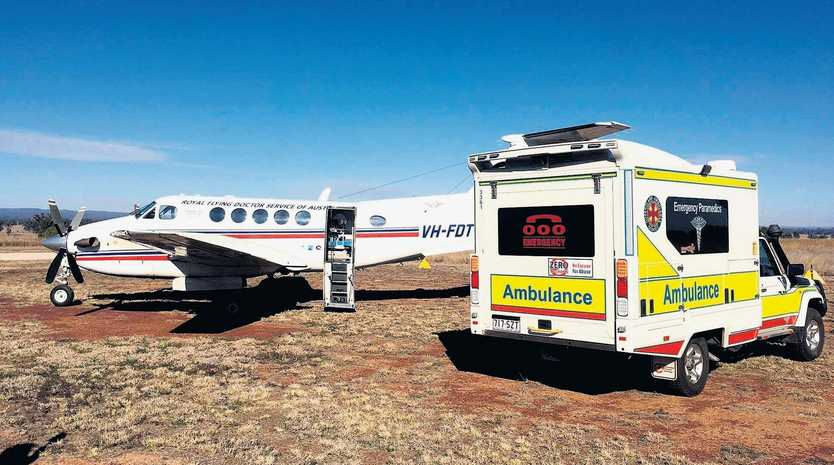 VITAL SERVICE: The Royal Flying Doctor Service will airlift a man to hospital after a crash in CQ.