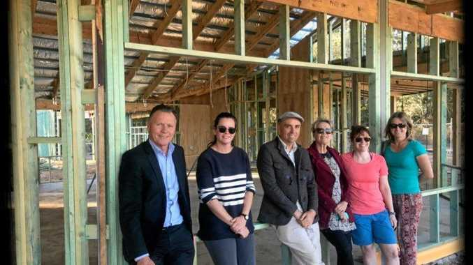 Chris Jack and staff inspect the Birali Steiner School.