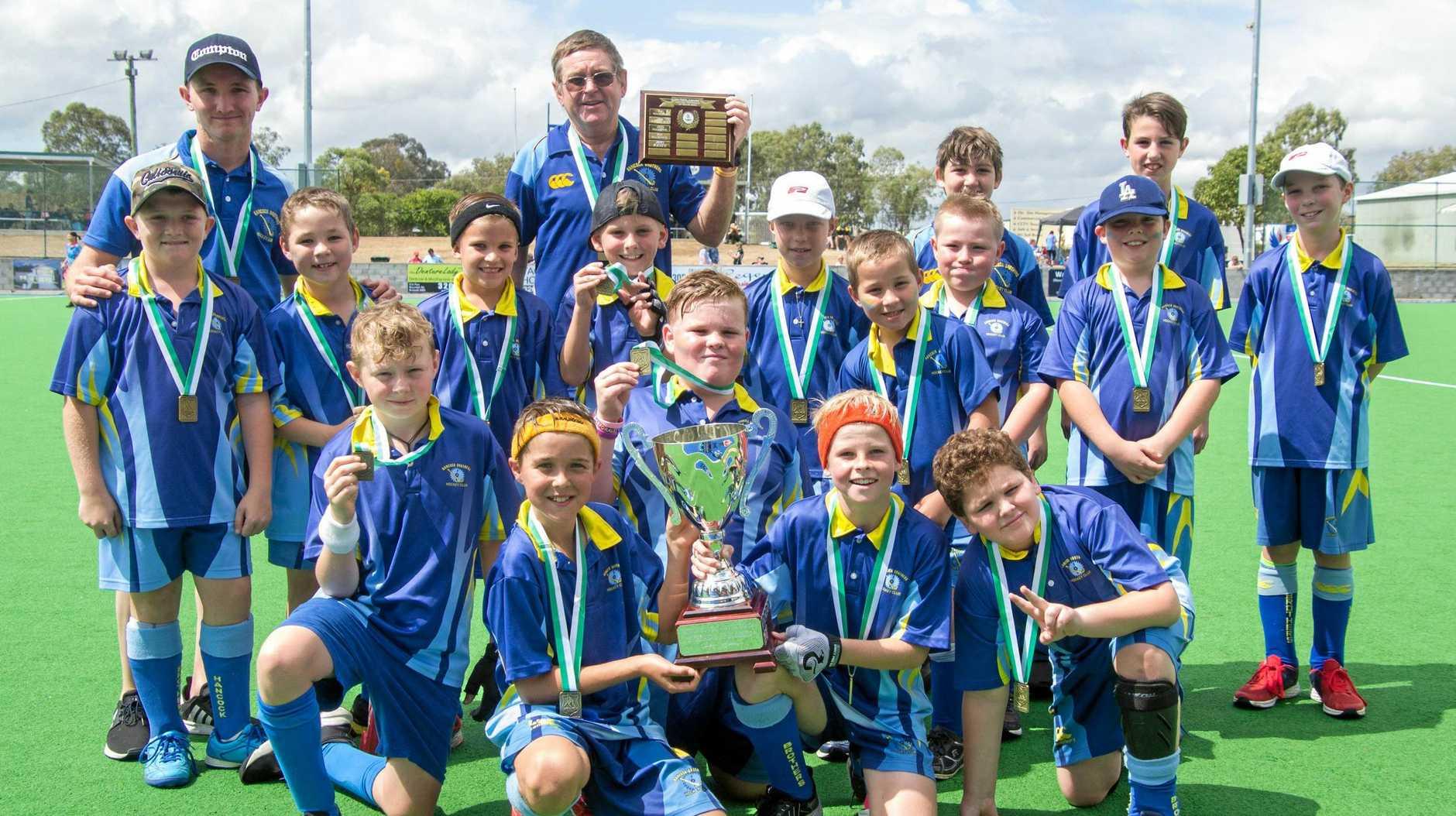 The Hancocks E-Grade team that won the grand final.