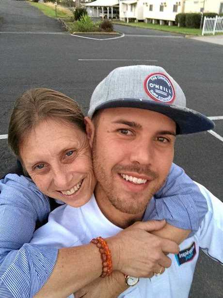 HEART BROKEN: Michele Bowling with her son, Daniel.