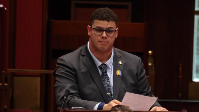Greens Senator Jordon Steele-John would like to see the voting age lowered. (Pic: Gary Ramage)