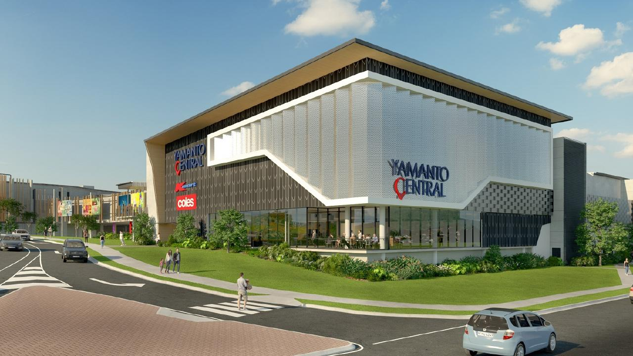 An artist's impression of the long-awaited three-storey food and retail hub, Yamanto Central, which will form part of the gateway to Ipswich.