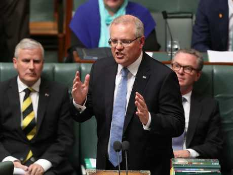 Scott Morrison copped repeated questions from Labor about why Malcolm Turnbull had to be ousted. Picture: Kym Smith