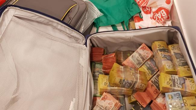A suitcase full of cash. Photo: Supplied