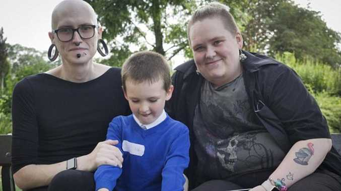 Mum and dad plan to swap genders. Picture: Mirrorpix/Australscope